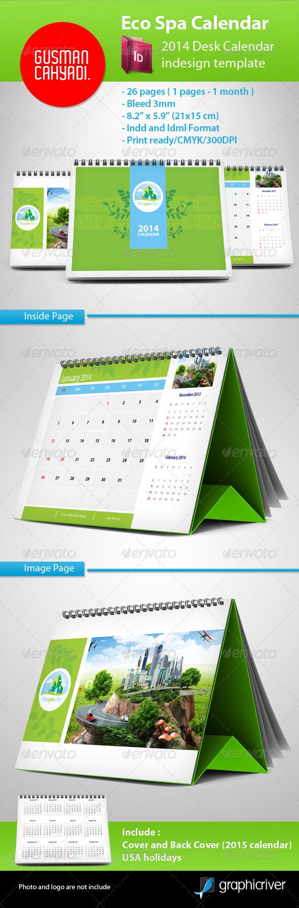 GraphicRiver Eco Spa Calendar 2014 5009853