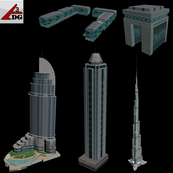 3DOcean Low-poly Buildings [DUBAI] 5010364