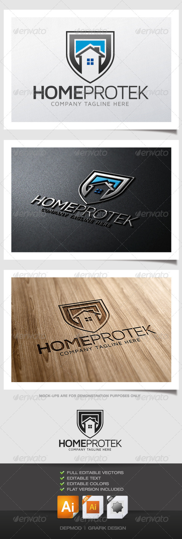 Home Protek Logo - Buildings Logo Templates