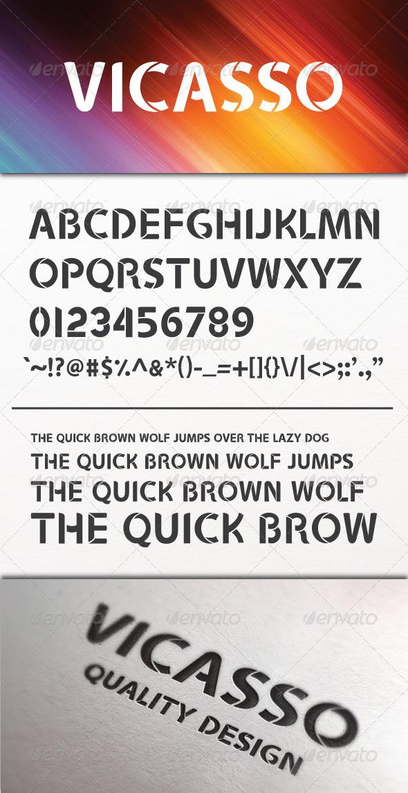 GraphicRiver Vicasso Font 5011255