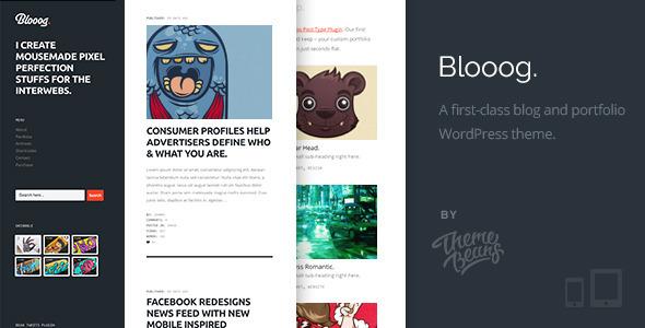 Blooog  | Premium Blog  Portfolio Theme