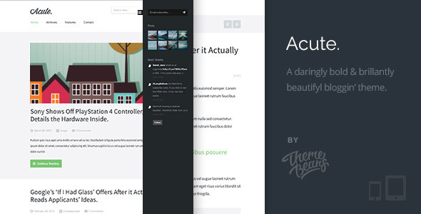 Acute | Beautiful  Responsive Blogging Theme