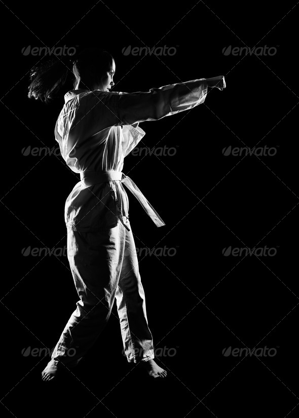 karate girl - Stock Photo - Images