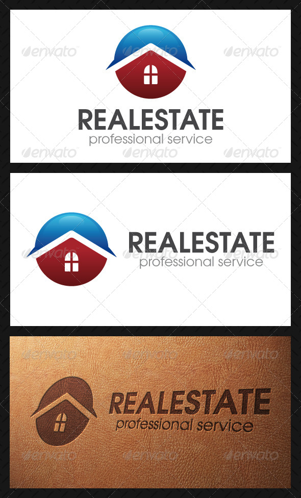 Real Estate Circle Logo Template - Buildings Logo Templates
