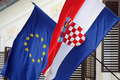 EU and Croatian flags - PhotoDune Item for Sale