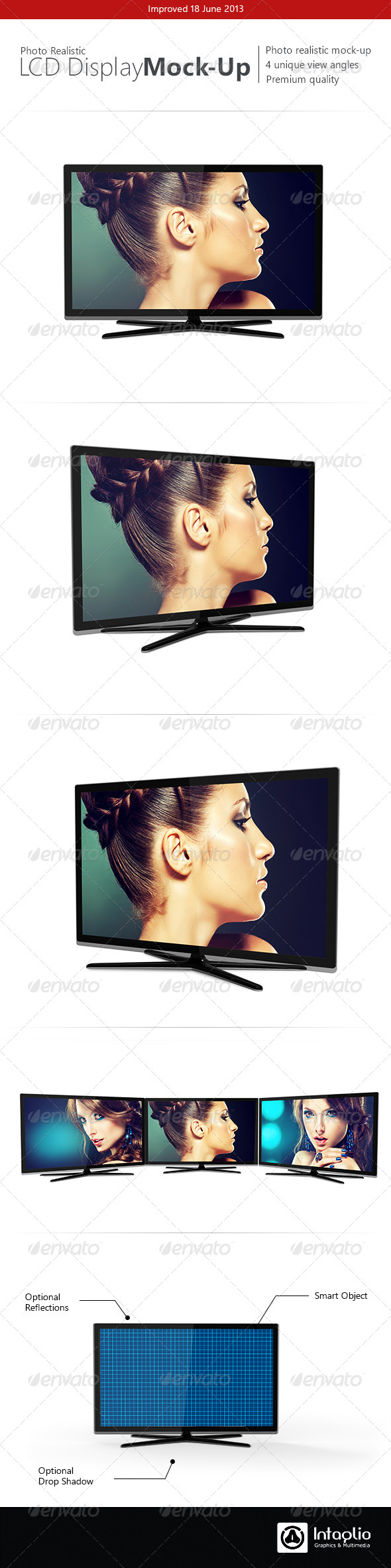 Photorealistic LCD Mock-Up - TV Displays