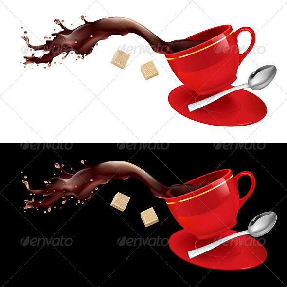 GraphicRiver Coffee in Red Cup 5013021