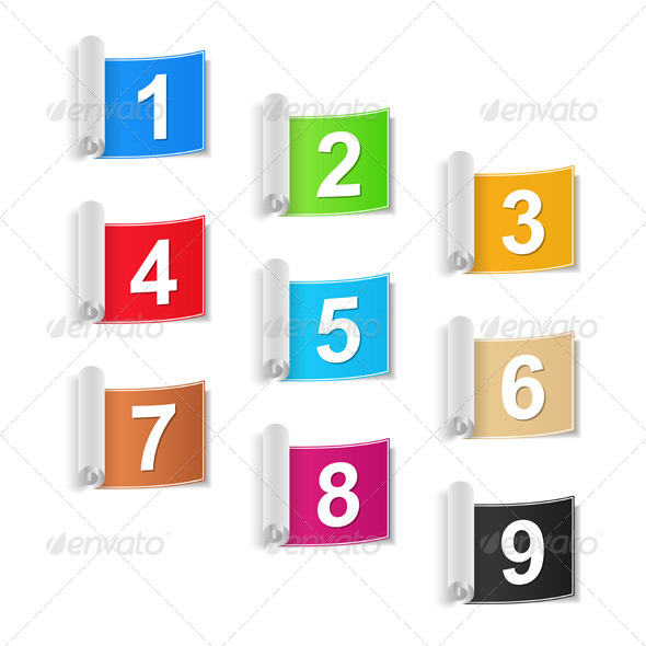 GraphicRiver Numbers Set 5013124
