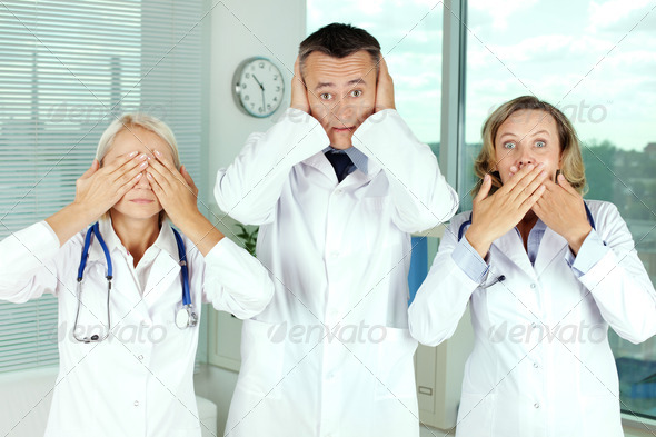 Blind, deaf, dumb - Stock Photo - Images