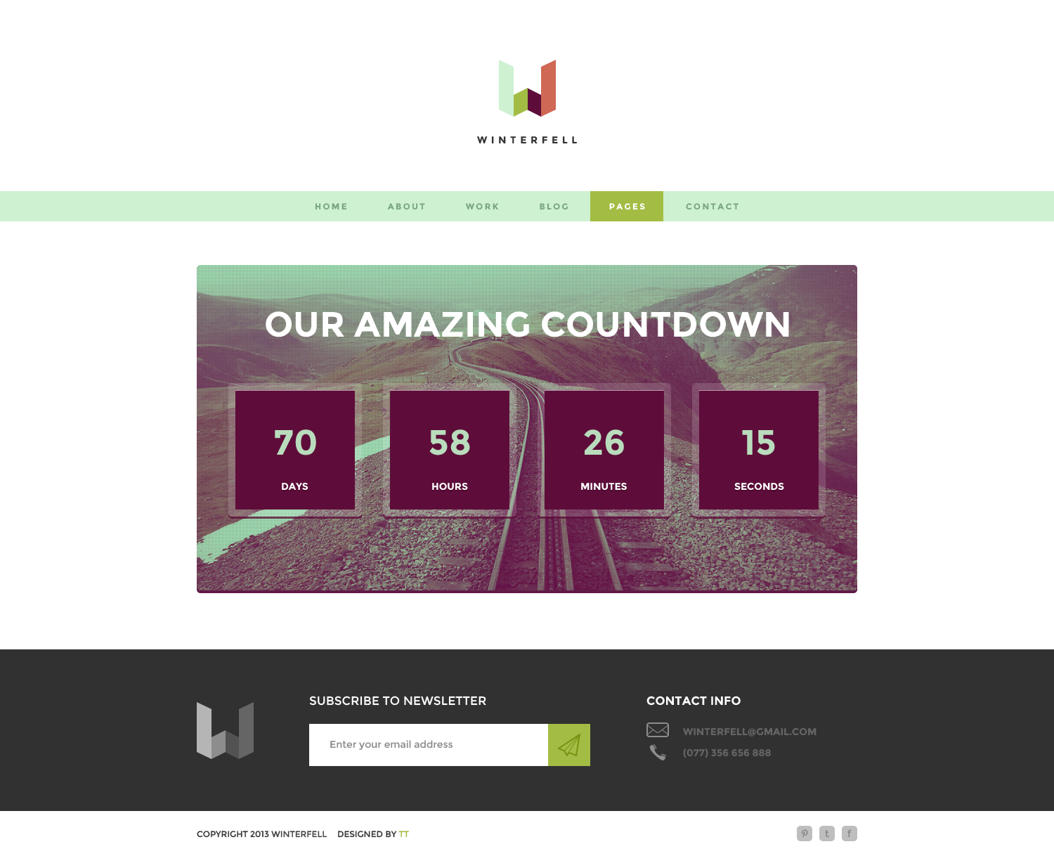Winterfell - Creative HTML Theme
