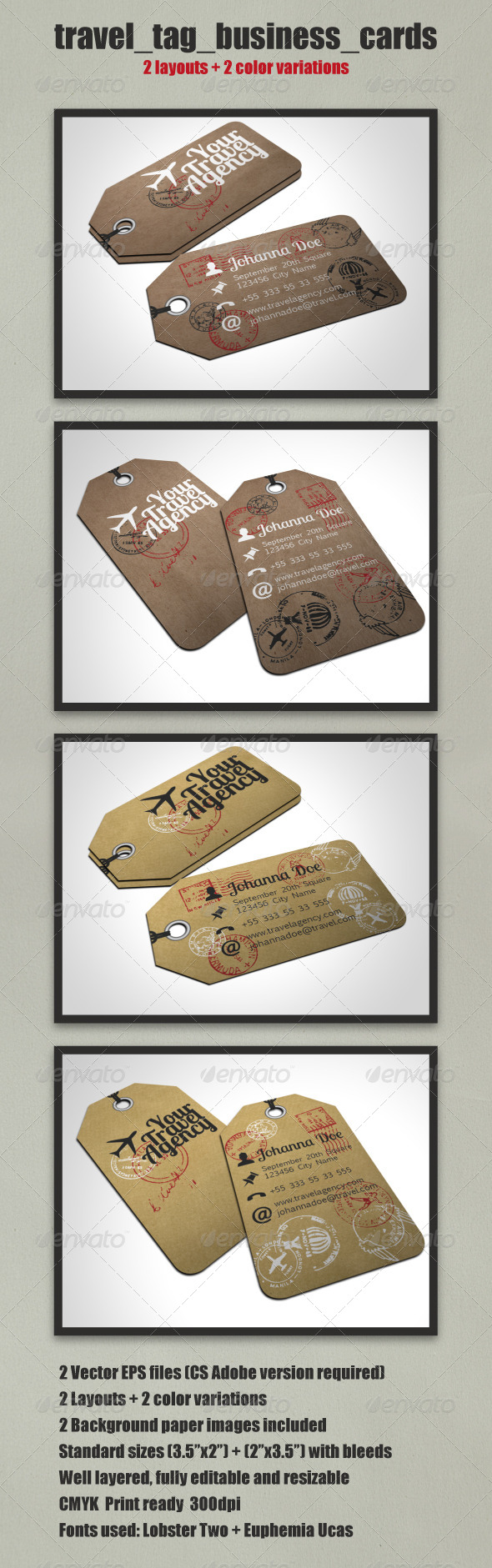GraphicRiver Travel Tag Business Card Template 4915881