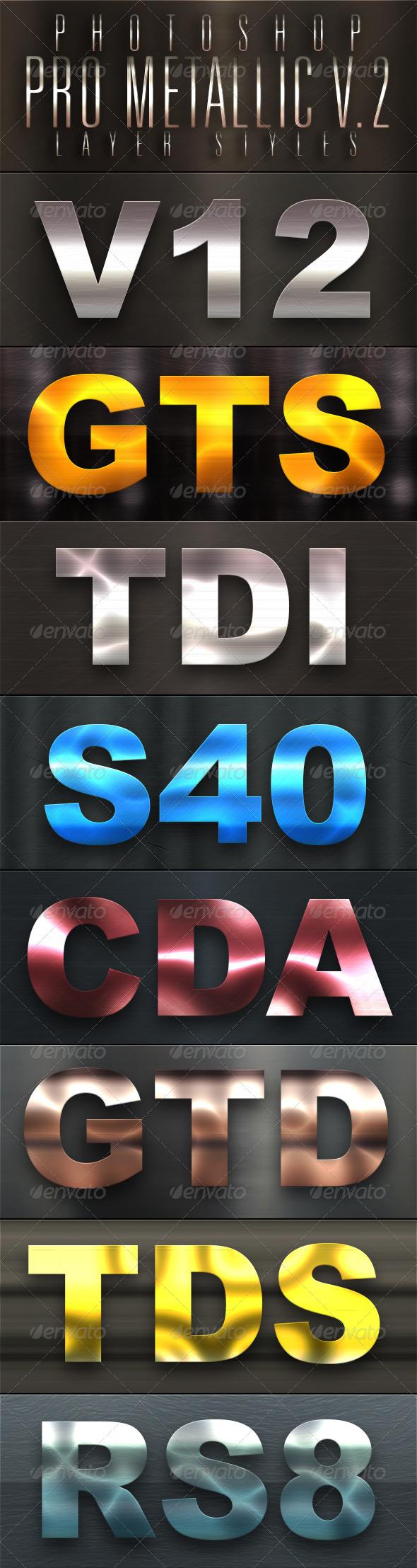 GraphicRiver Pro Metallic Styles V 2 5015572