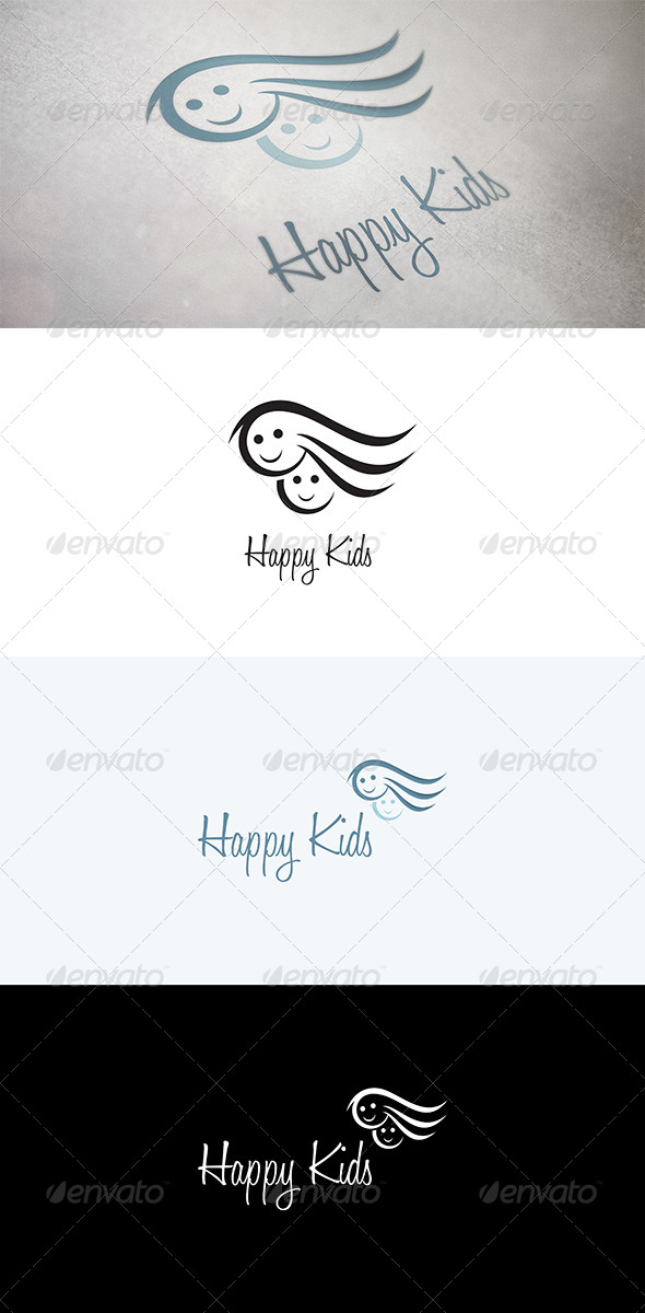 GraphicRiver Abstract Faces of Kids 5015901