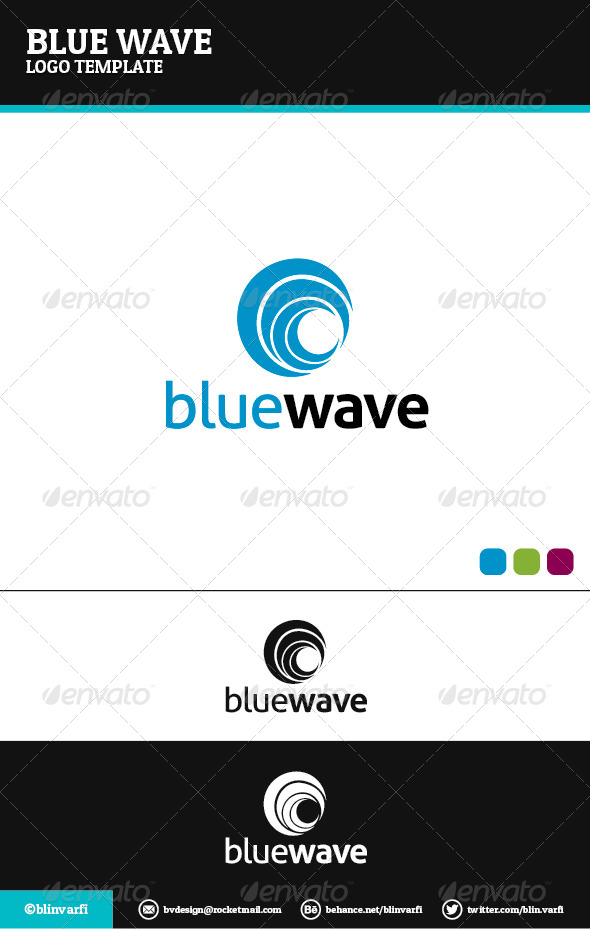 Blue Wave Logo Template - Symbols Logo Templates