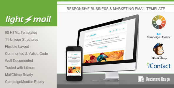 ThemeForest LightMail Responsive Email Template 5016169