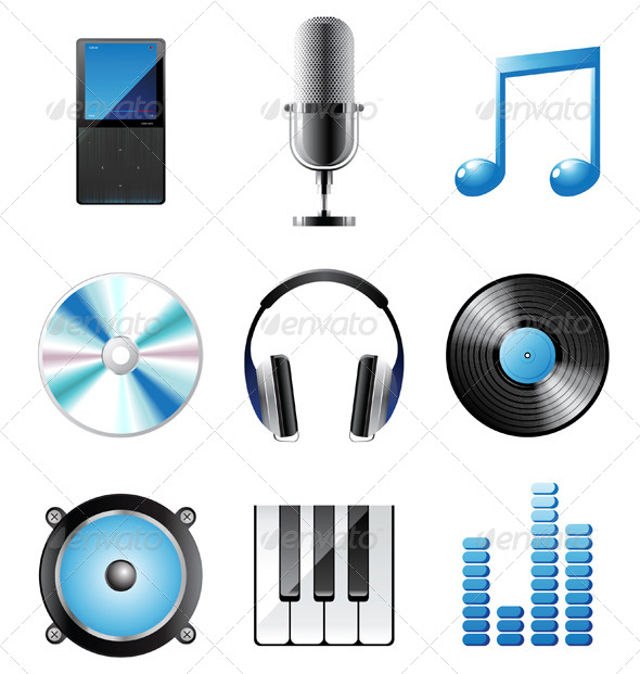 GraphicRiver Music Icons 5016193