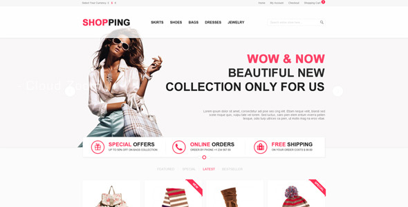 Shopping - eCommerce PSD Template