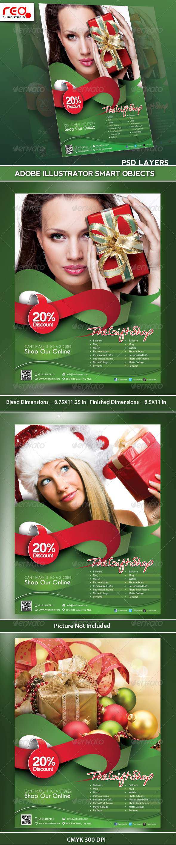 GraphicRiver Gift Shop Flyer Poster Magazine Template 5016433