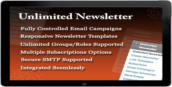 A Product by Flipper Code UNLIMITED NEWSLETTER PLUGIN provides a number of convenient options for managing the newsletters. This plugin provides a very easy an