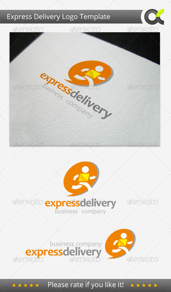 Express Delivery Logo Template - Humans Logo Templates