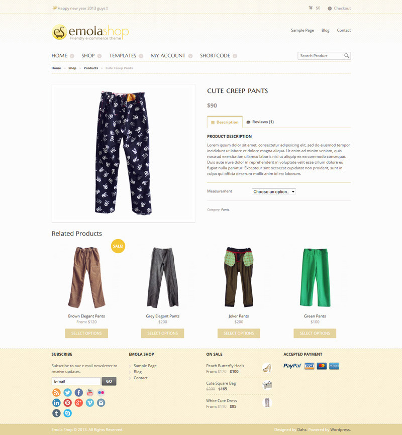 EmolaShop - A Friendly Wordpress eCommerce Theme