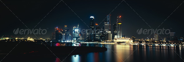 Singapore night - Stock Photo - Images