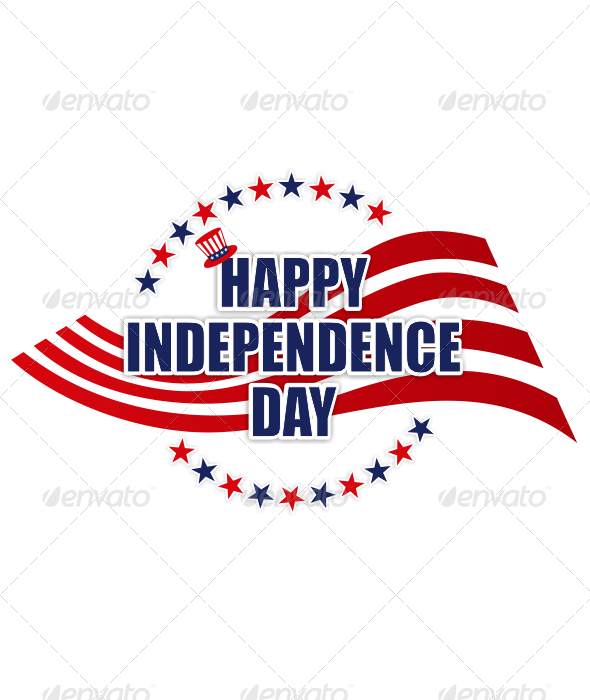 GraphicRiver Happy Independence Day Sign 4872164