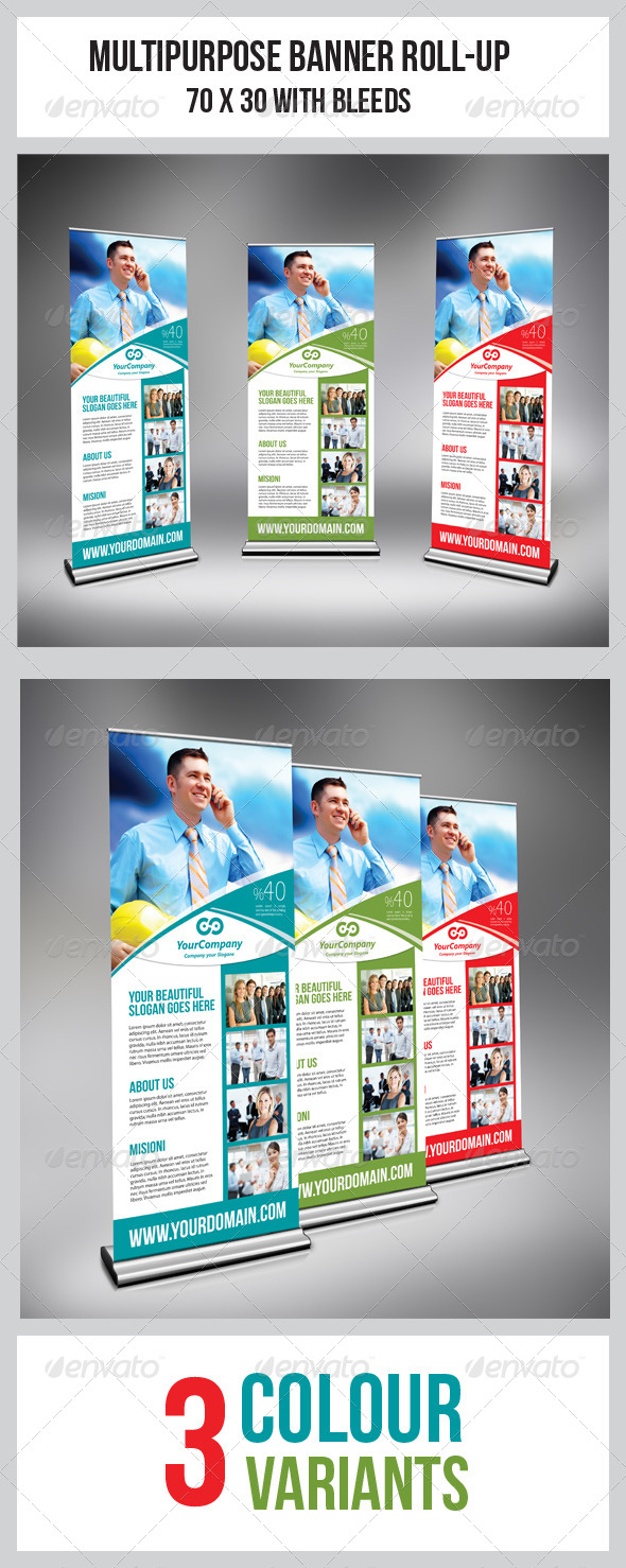 GraphicRiver Multipurpose Business Roll-Up 5020845