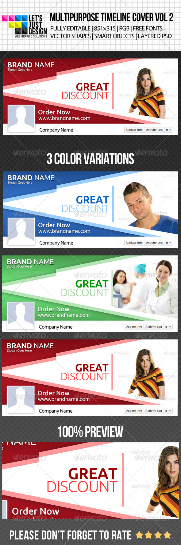 GraphicRiver Multipurpose Facebook Timeline Cover Vol 2 5021467