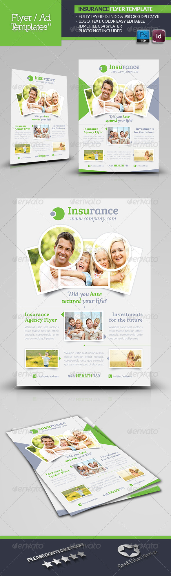 GraphicRiver Insurance Agency Flyer Template 5022055