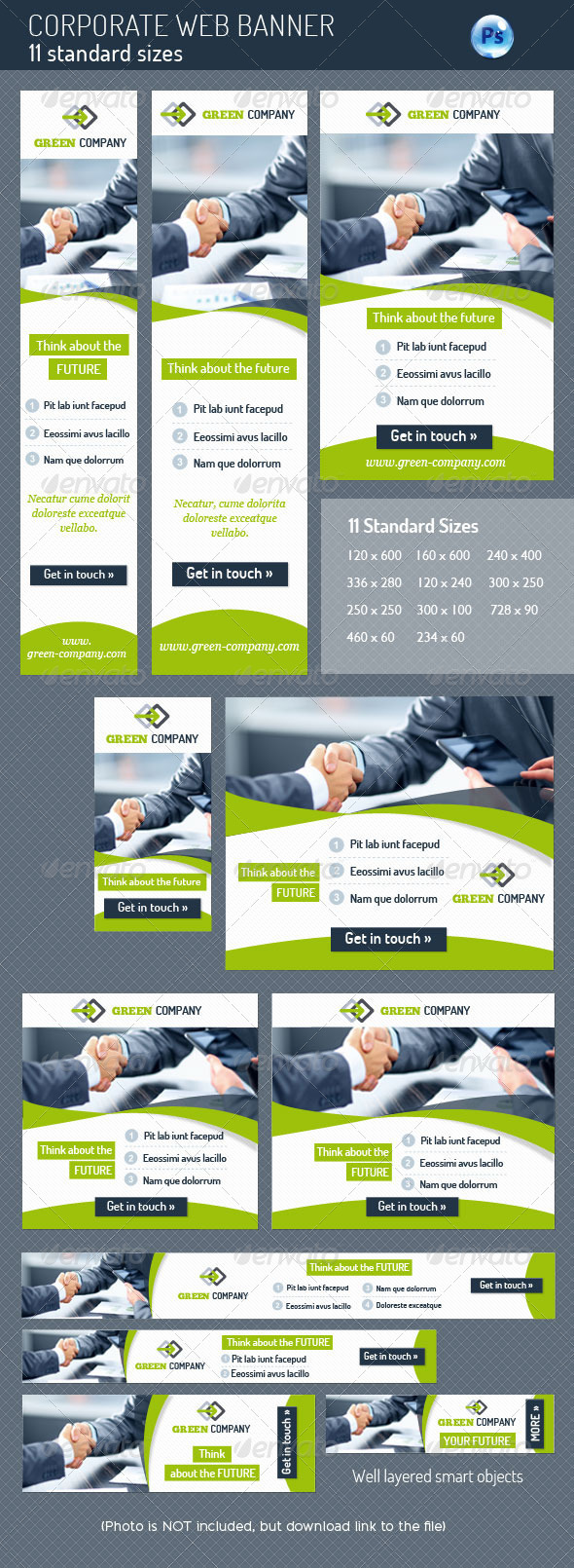 Corporate Web Banner - Banners & Ads Web Elements