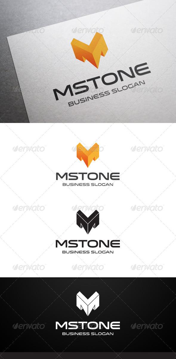 GraphicRiver Mstone M Letter Logo 5022788