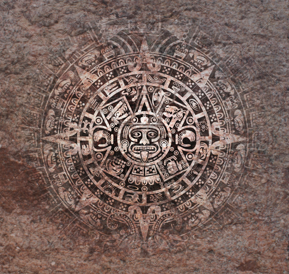 GraphicRiver Mayan Calendar on Old Stone 5022899