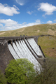 The Claerwen reservoir dam overflowing, Elan Valley Wales UK. - PhotoDune Item for Sale