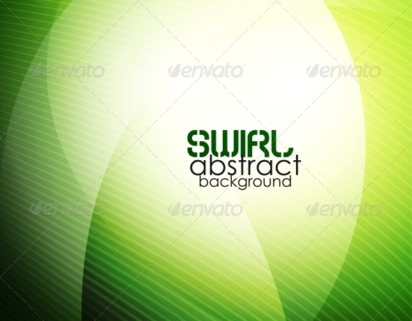 GraphicRiver Abstract Green Waves 5024325