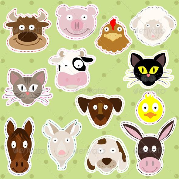 GraphicRiver Farm Animals Illustration Set 5024347