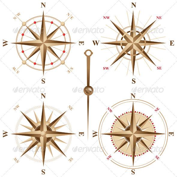 GraphicRiver Retro Compasses 5024462