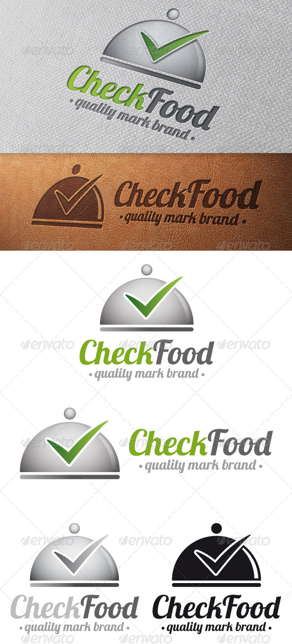 Gourmet Tick Check Mark Logo Template - Food Logo Templates