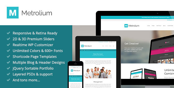 ThemeForest Metrolium Responsive Multi-Purpose WP Theme 5018371