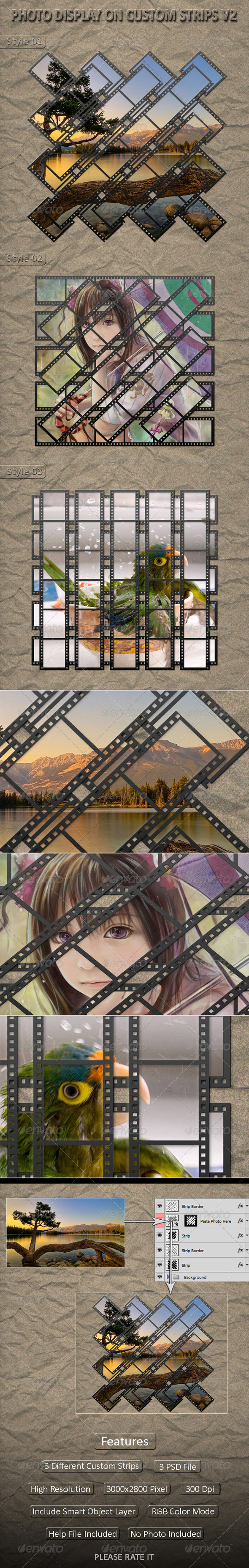 GraphicRiver Photo Display on Custom Strips V2 5024635