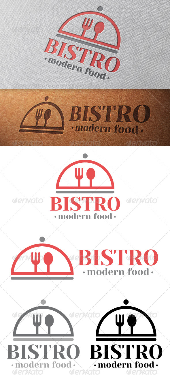 Bistro Logo Template - Food Logo Templates