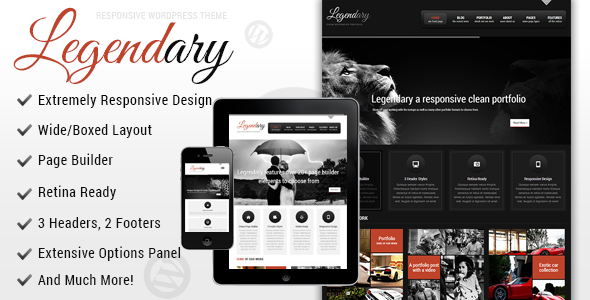 ThemeForest Legendary Responsive Wordpress Theme 4845869