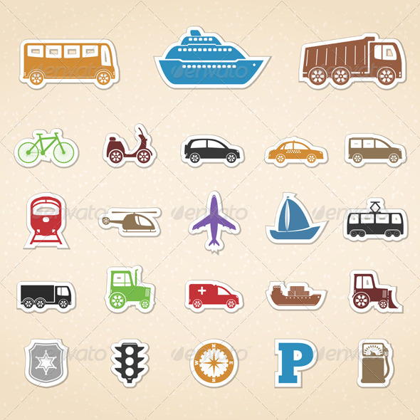 GraphicRiver Transport Icons 5027498