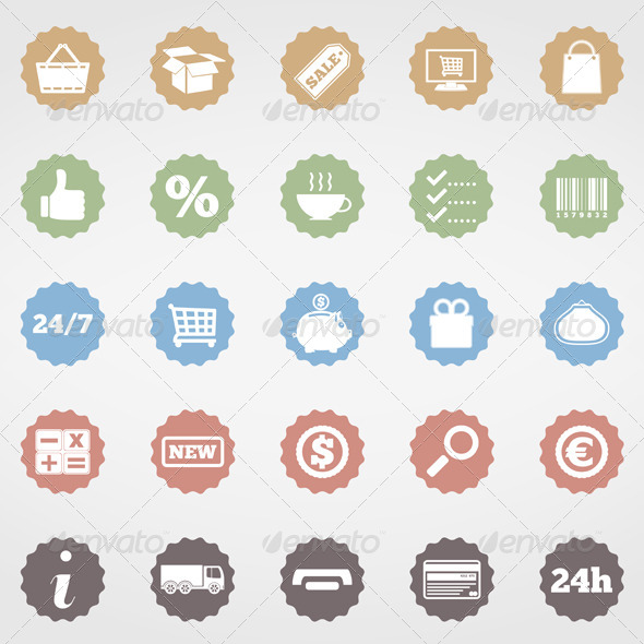 GraphicRiver Shopping Icons 5027526