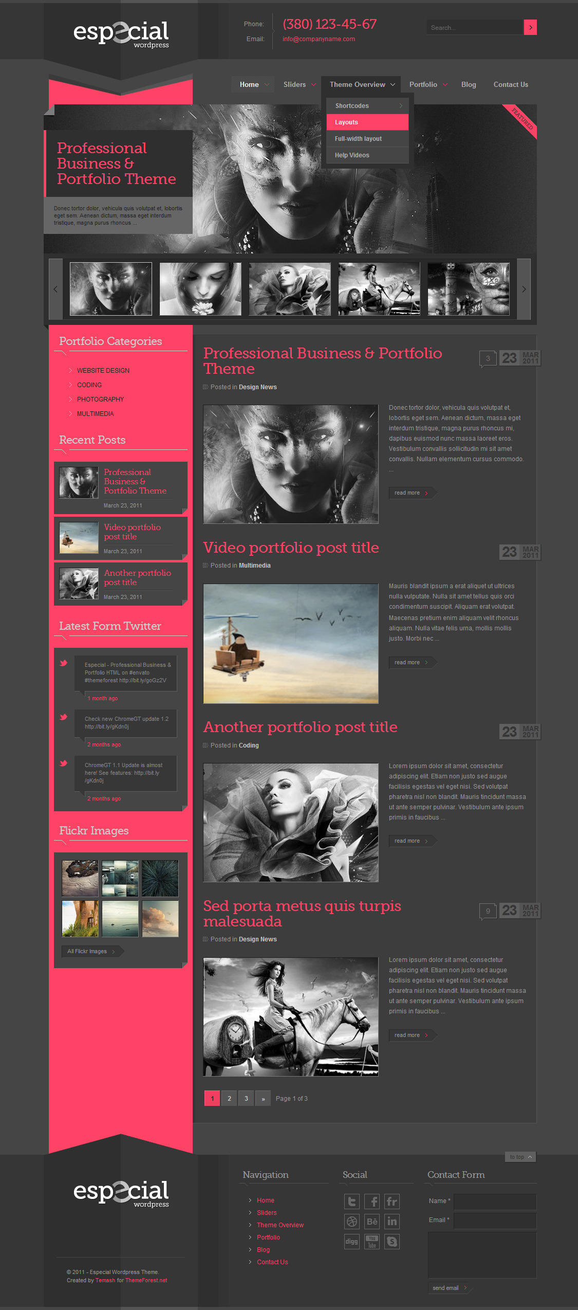 Especial - Business & Portfolio Wordpress Theme