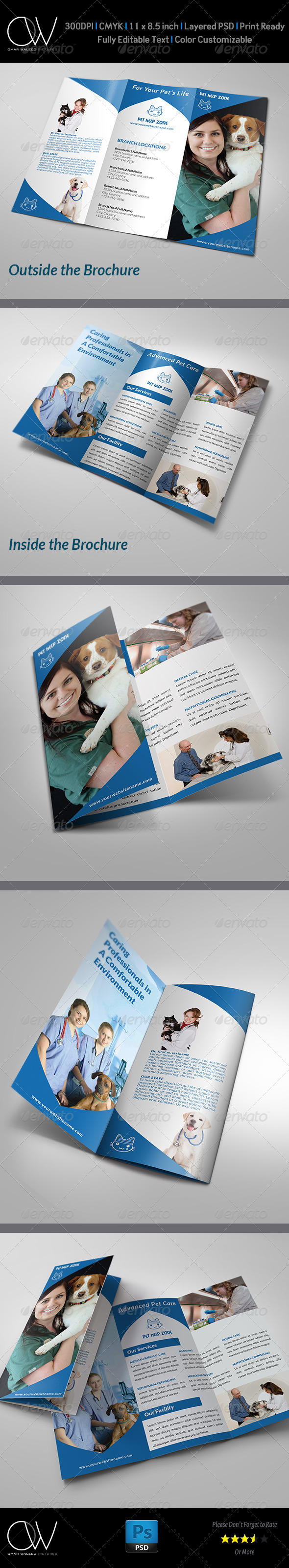 GraphicRiver Veterinarian Clinic Brochure Template 5027716