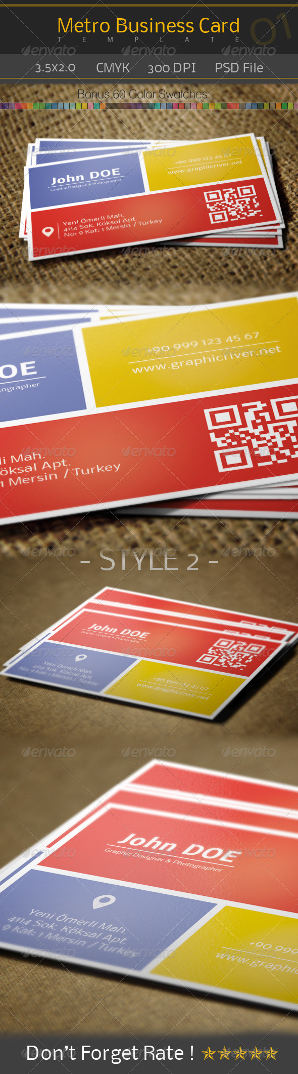 GraphicRiver Metro Business Card 01 5028078