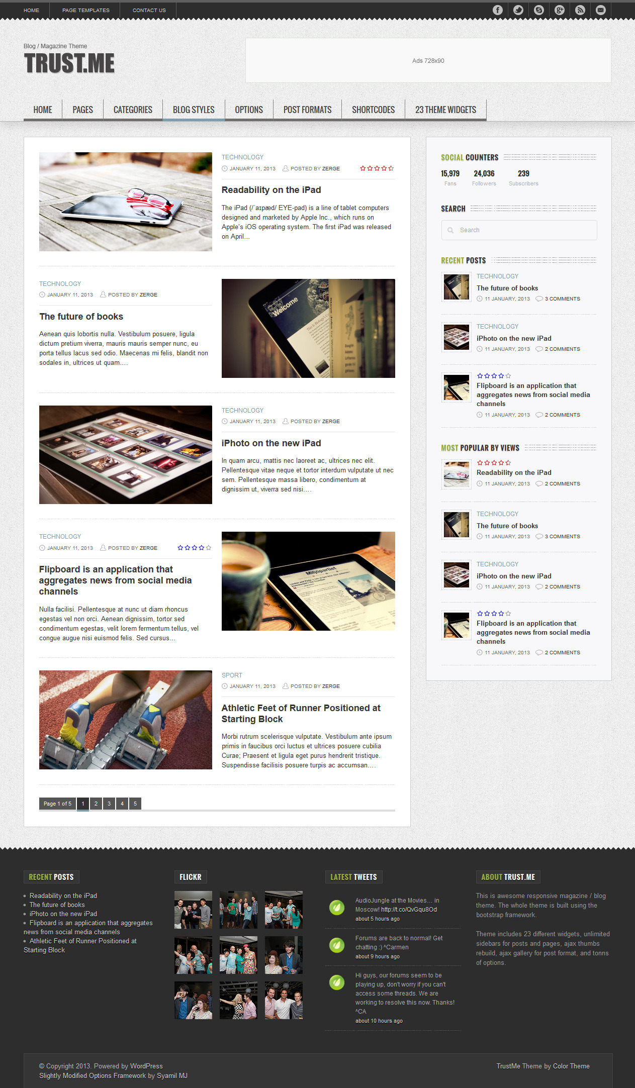 TrustMe - Responsive WordPress Magazine / Blog - Blog Chessboard