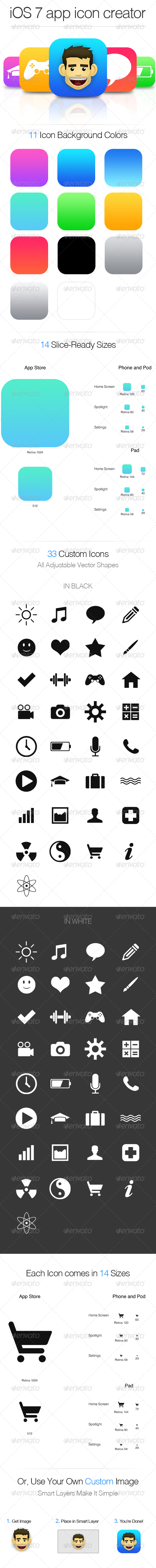 GraphicRiver iOS 7 App Icon Creator 5028389