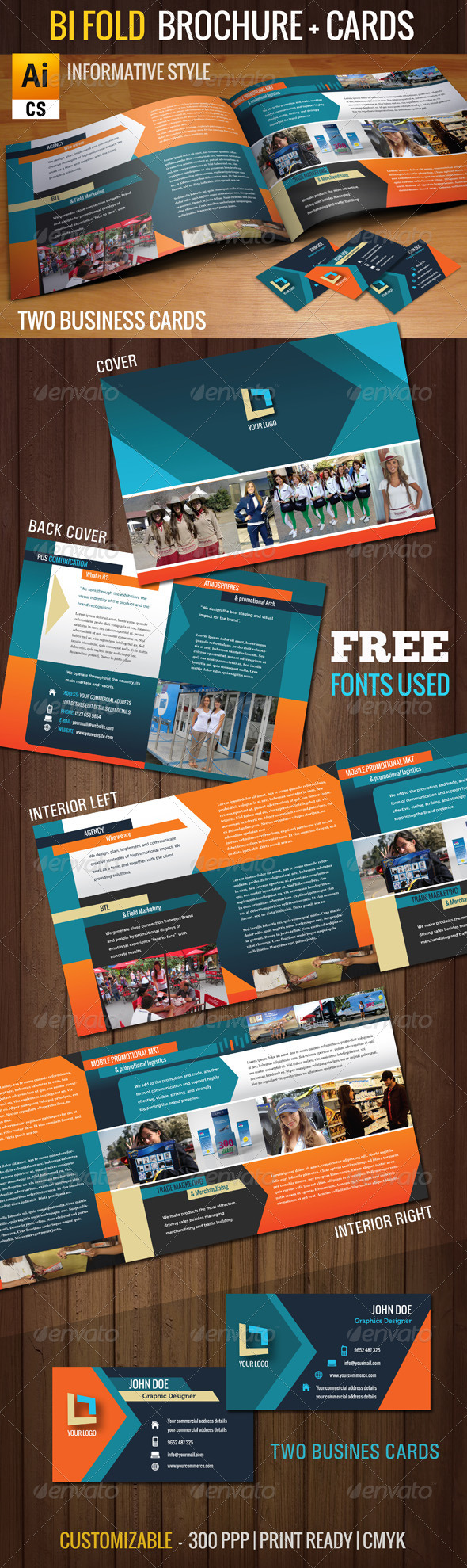 GraphicRiver 2 Bi Fold Template Package 4896959
